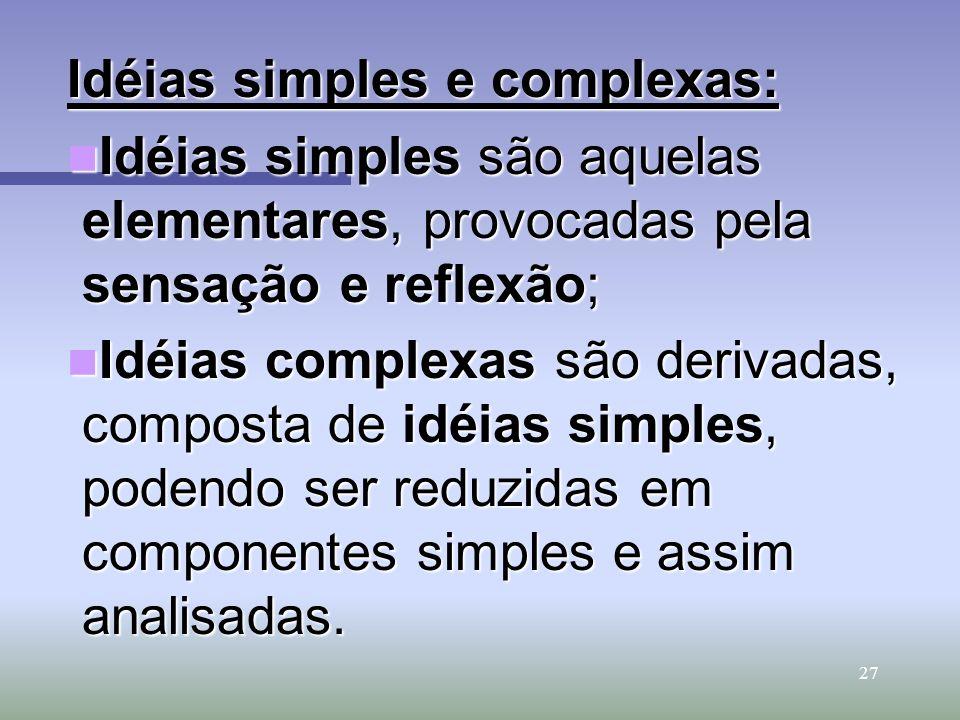 Idéias simples e complexas: