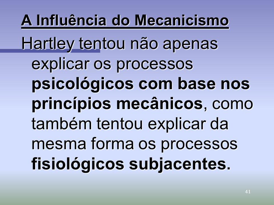 A Influência do Mecanicismo