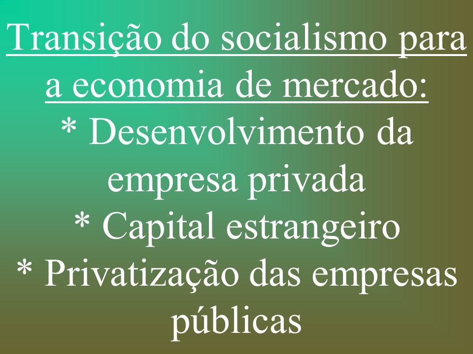 Transição do socialismo para a economia de mercado: