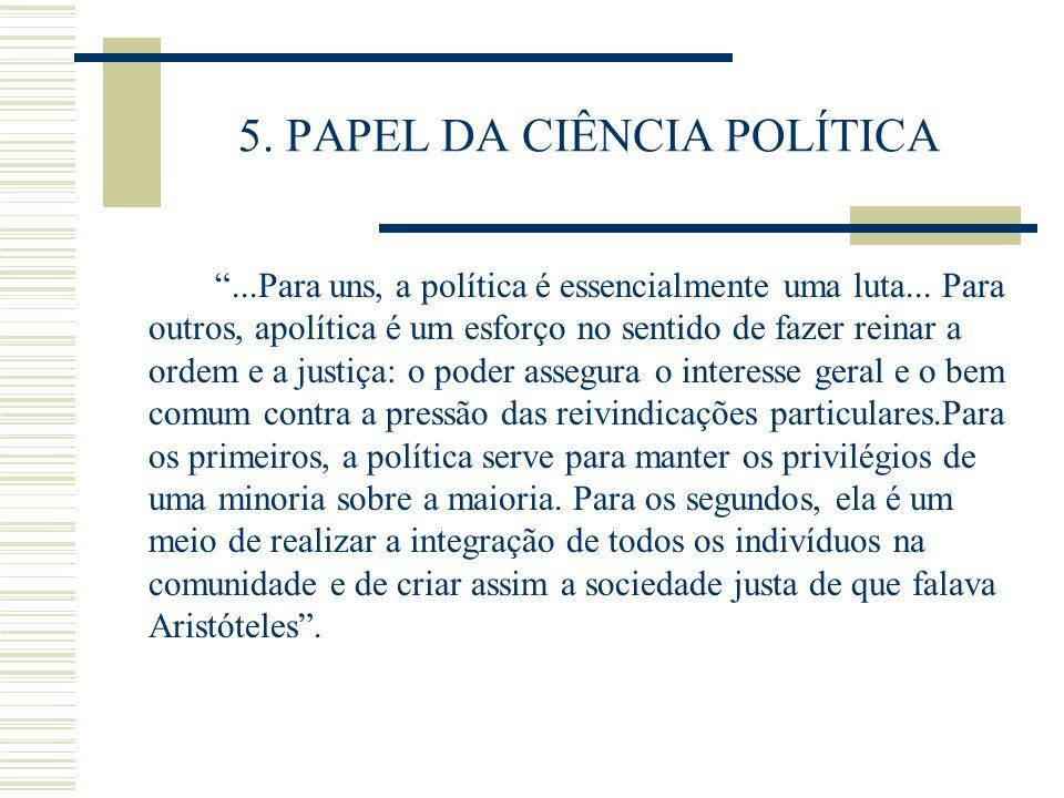 5. PAPEL DA CIÊNCIA POLÍTICA