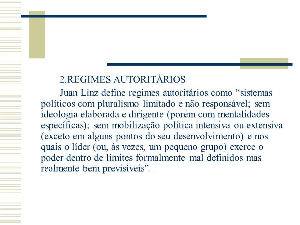 2.REGIMES AUTORITÁRIOS