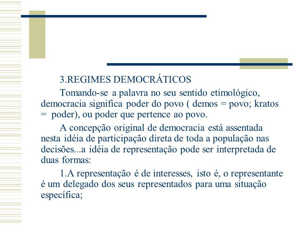 3.REGIMES DEMOCRÁTICOS