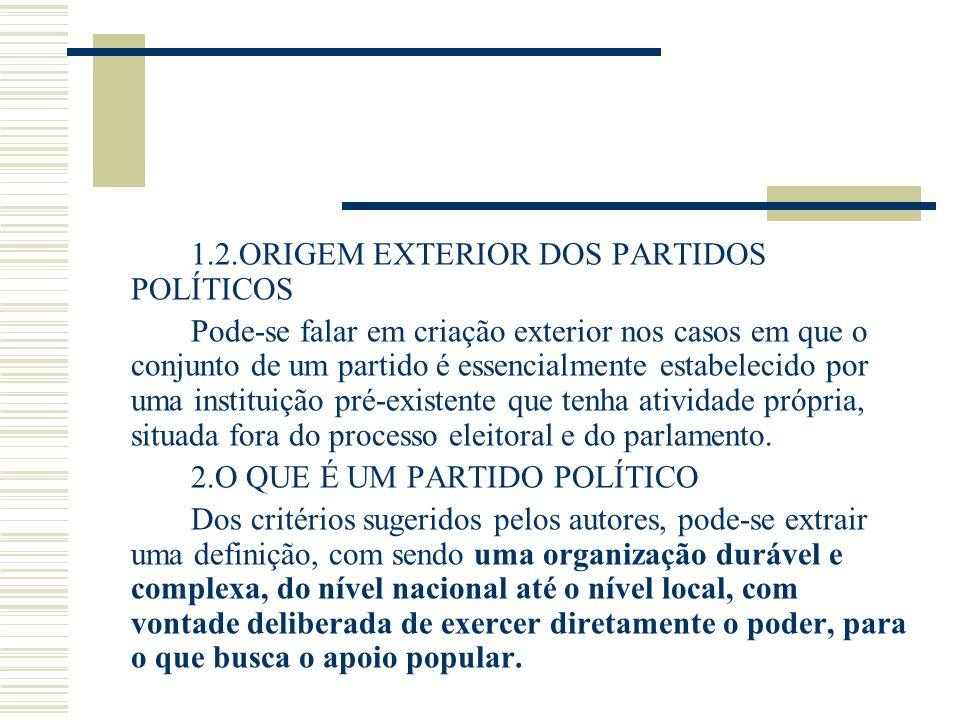 2.O QUE É UM PARTIDO POLÍTICO