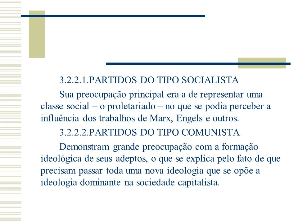 3.2.2.1.PARTIDOS DO TIPO SOCIALISTA