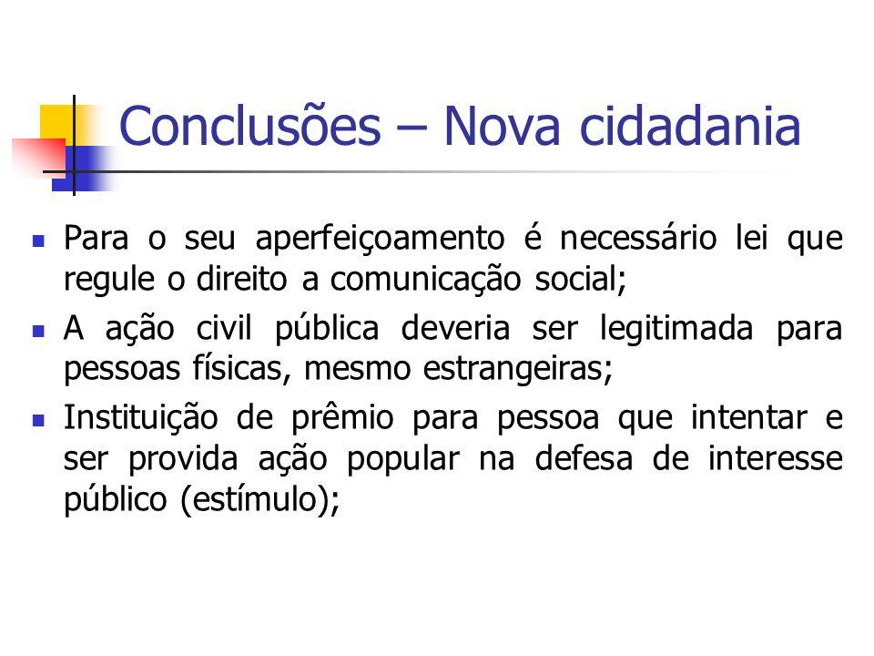 Conclusões – Nova cidadania