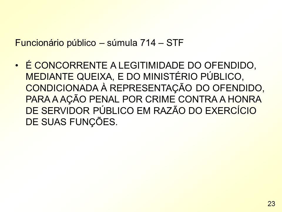 Funcionário público – súmula 714 – STF