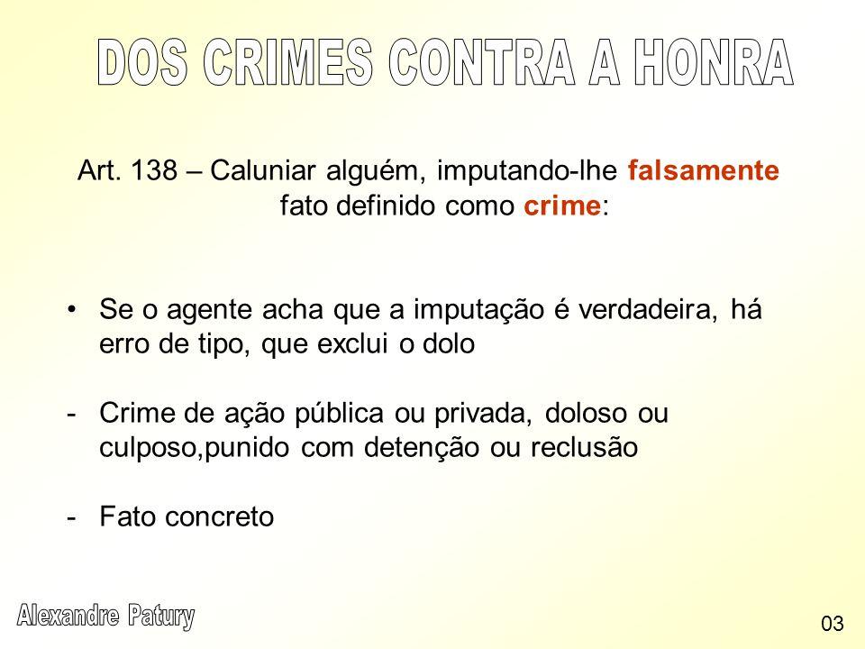 DOS CRIMES CONTRA A HONRA