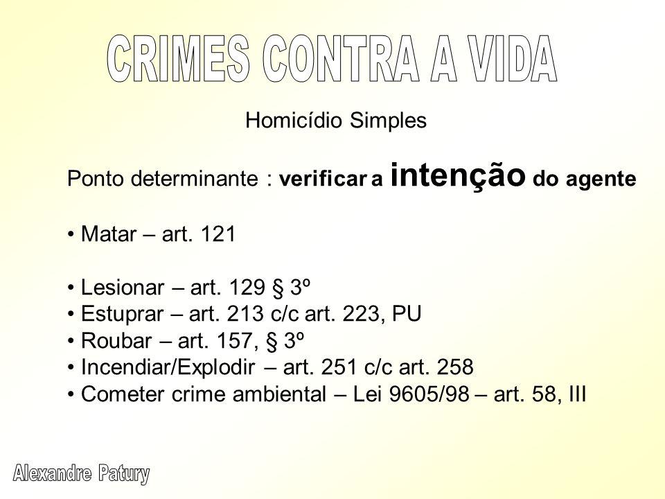 CRIMES CONTRA A VIDA Homicídio Simples