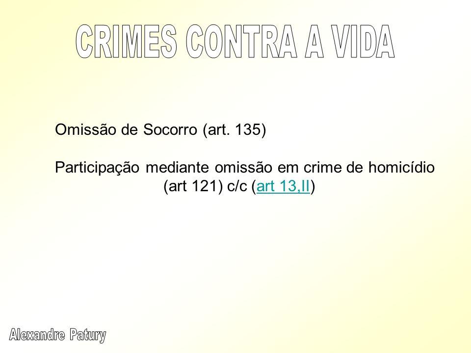 CRIMES CONTRA A VIDA Omissão de Socorro (art. 135)