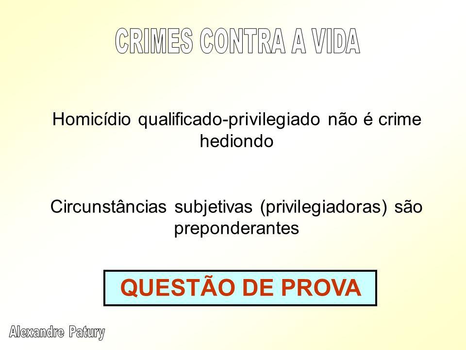 QUESTÃO DE PROVA CRIMES CONTRA A VIDA