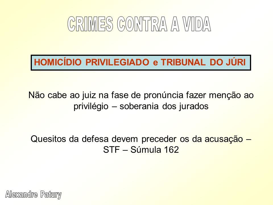 Quesitos da defesa devem preceder os da acusação – STF – Súmula 162