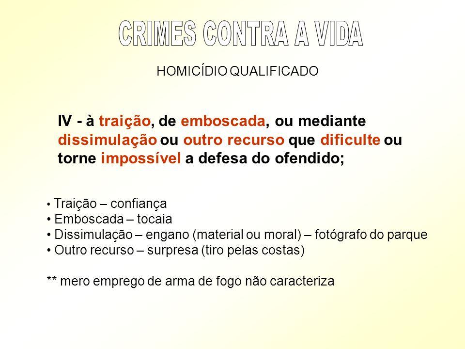 CRIMES CONTRA A VIDA HOMICÍDIO QUALIFICADO.