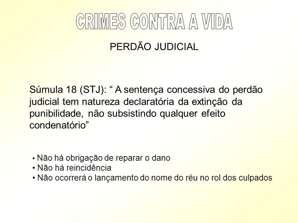 CRIMES CONTRA A VIDA PERDÃO JUDICIAL
