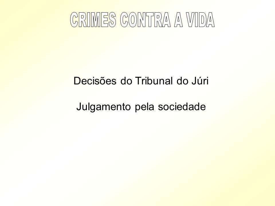 Decisões do Tribunal do Júri Julgamento pela sociedade