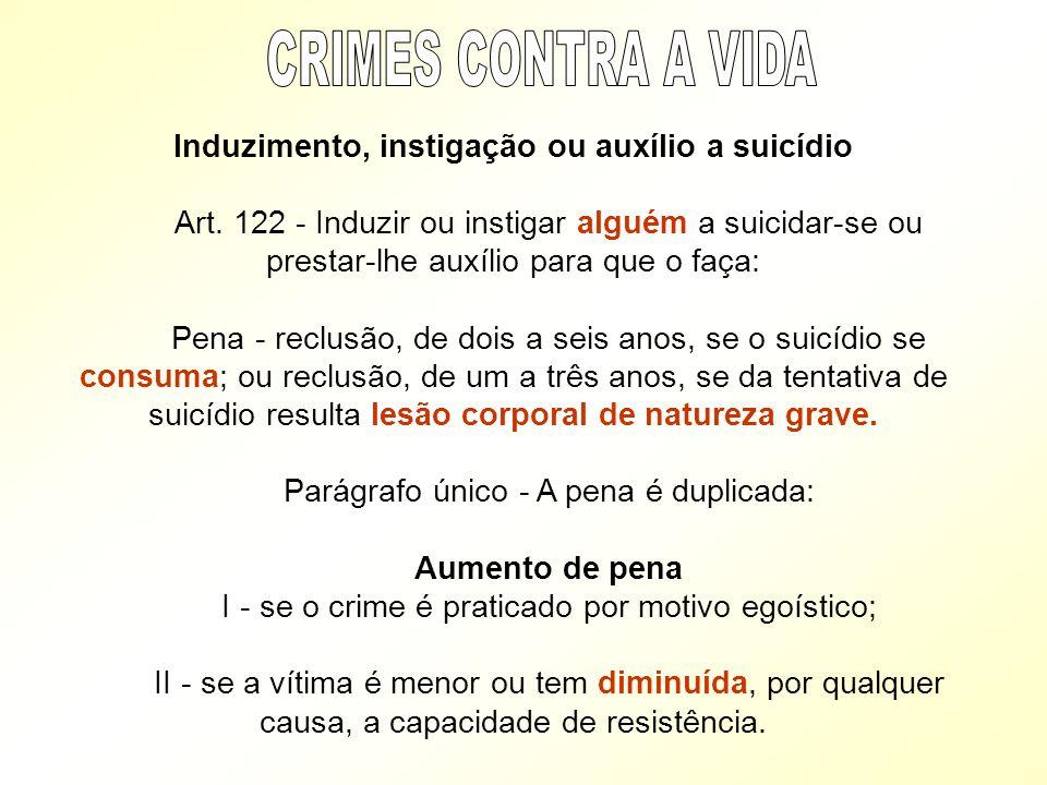 Induzimento, instigação ou auxílio a suicídio