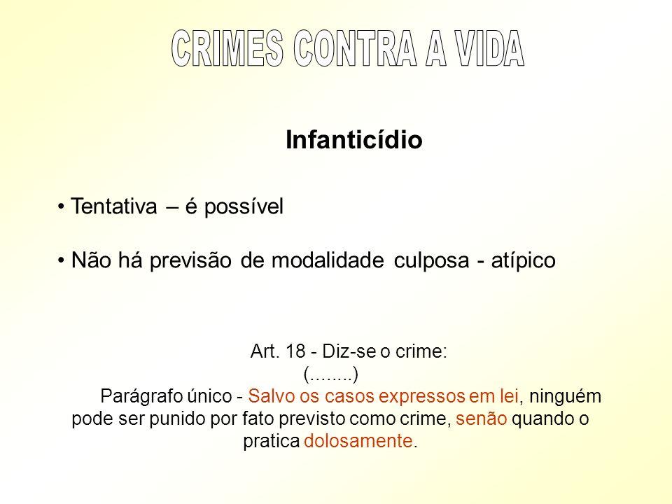 CRIMES CONTRA A VIDA Tentativa – é possível