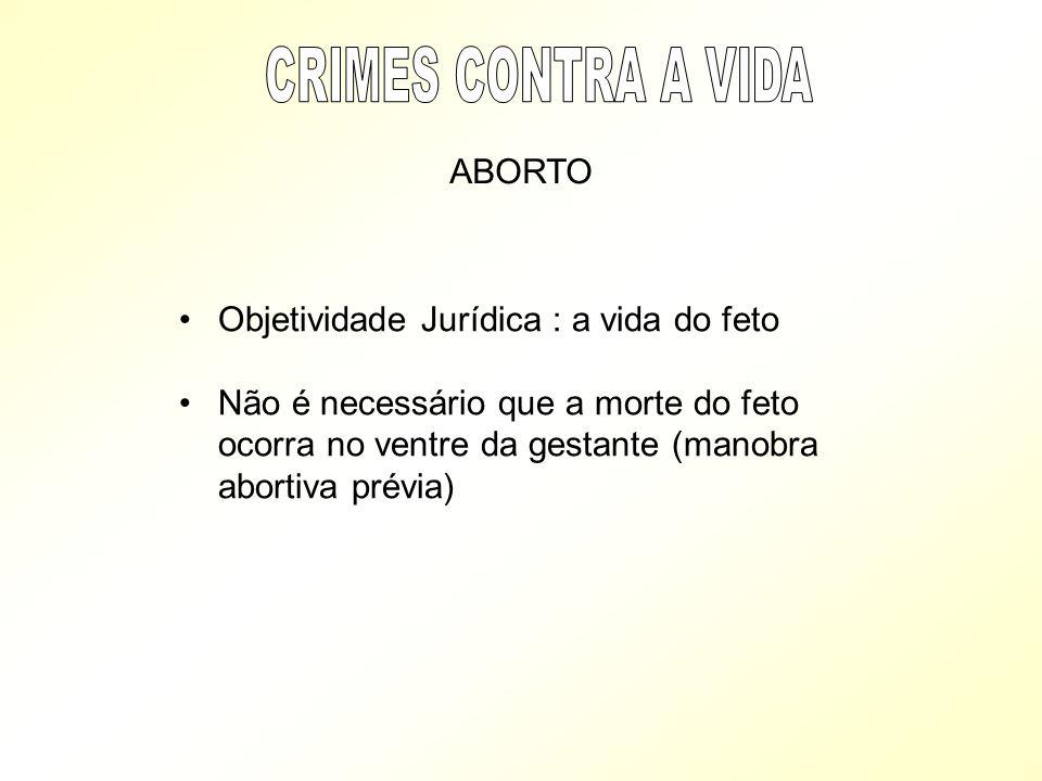 CRIMES CONTRA A VIDA ABORTO Objetividade Jurídica : a vida do feto