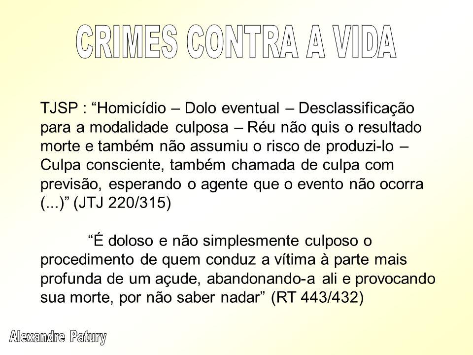 CRIMES CONTRA A VIDA