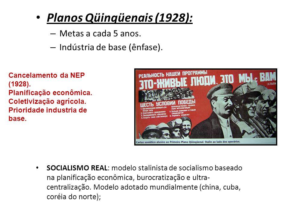 Planos Qüinqüenais (1928):