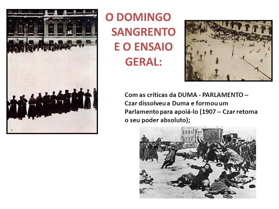 O DOMINGO SANGRENTO E O ENSAIO GERAL: