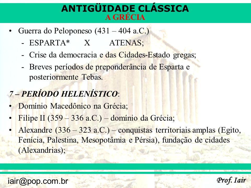 Guerra do Peloponeso (431 – 404 a.C.)