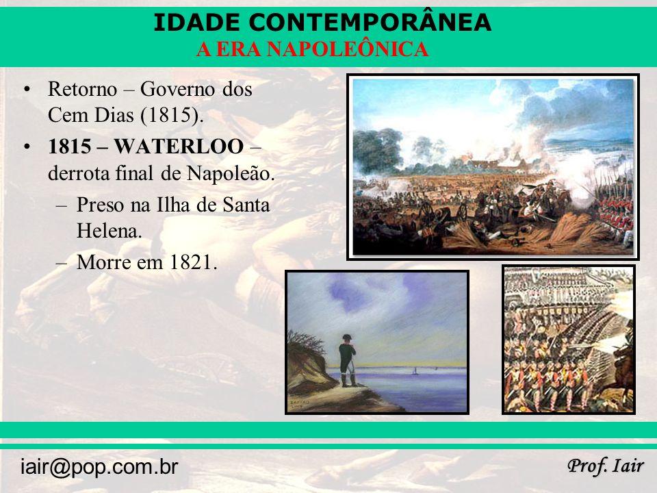 Retorno – Governo dos Cem Dias (1815).