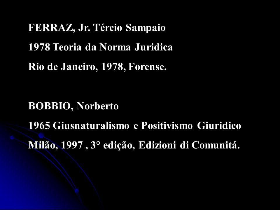 FERRAZ, Jr. Tércio Sampaio