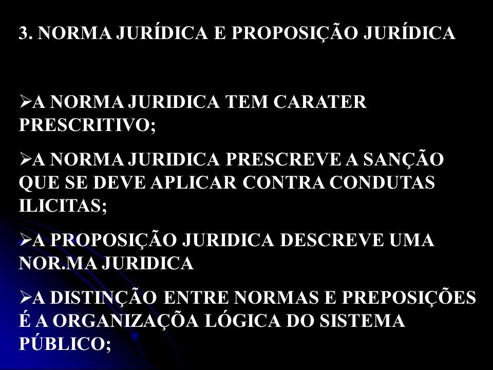 3. NORMA JURÍDICA E PROPOSIÇÃO JURÍDICA