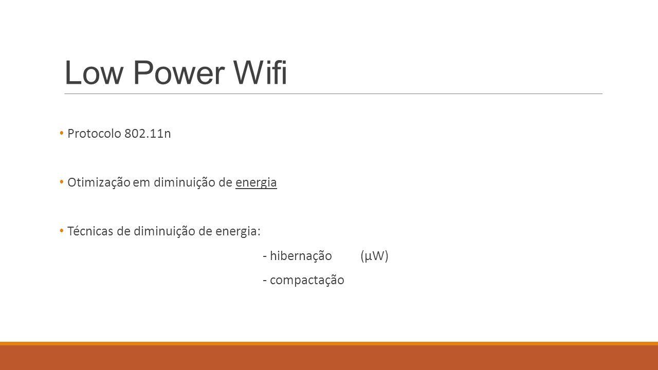 Low Power Wifi Protocolo 802.11n Otimização em diminuição de energia