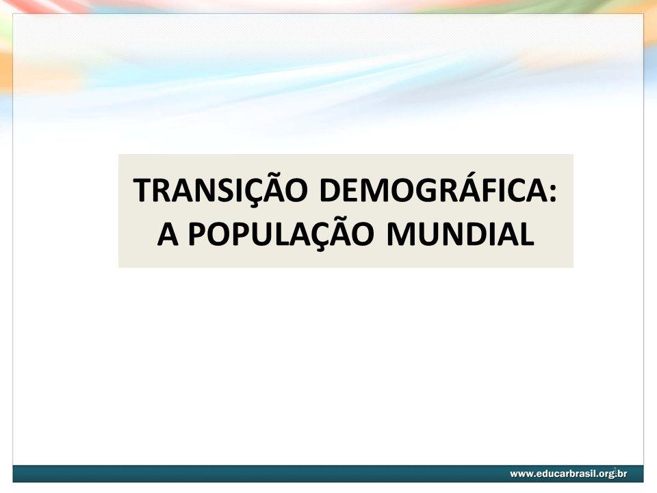 TRANSIÇÃO DEMOGRÁFICA: A POPULAÇÃO MUNDIAL