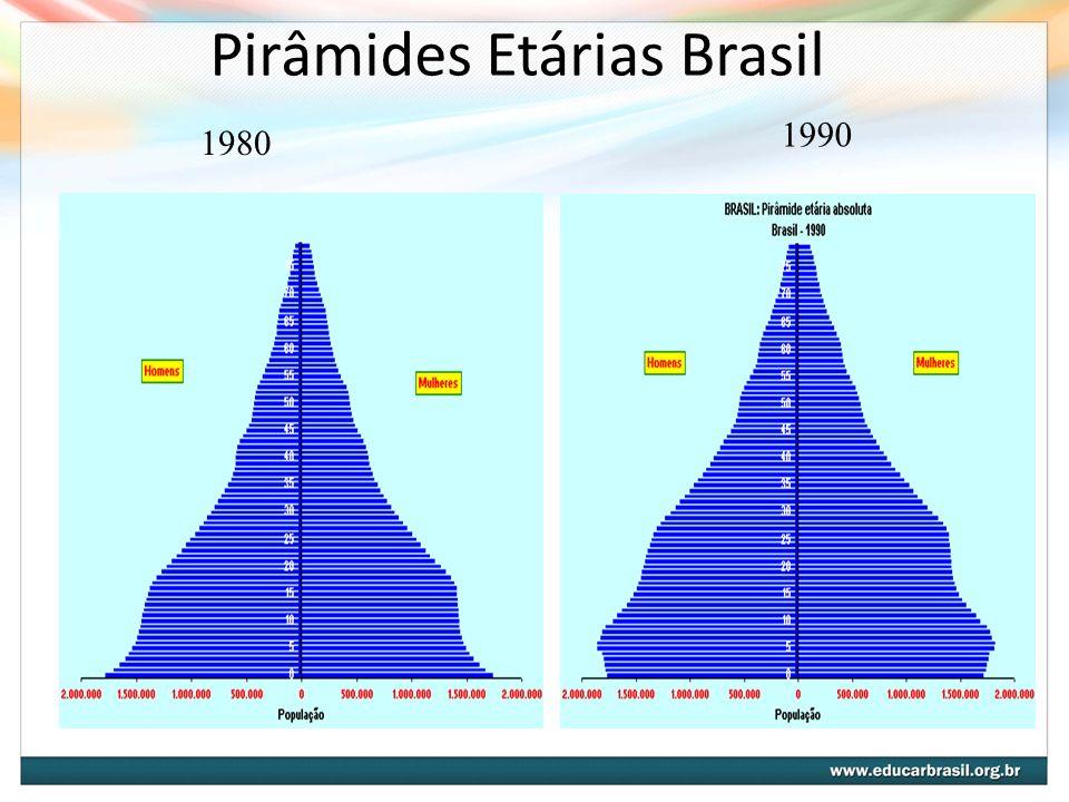 Pirâmides Etárias Brasil