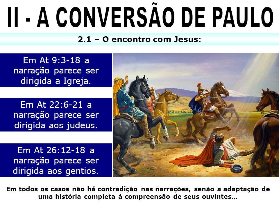 II - A CONVERSÃO DE PAULO