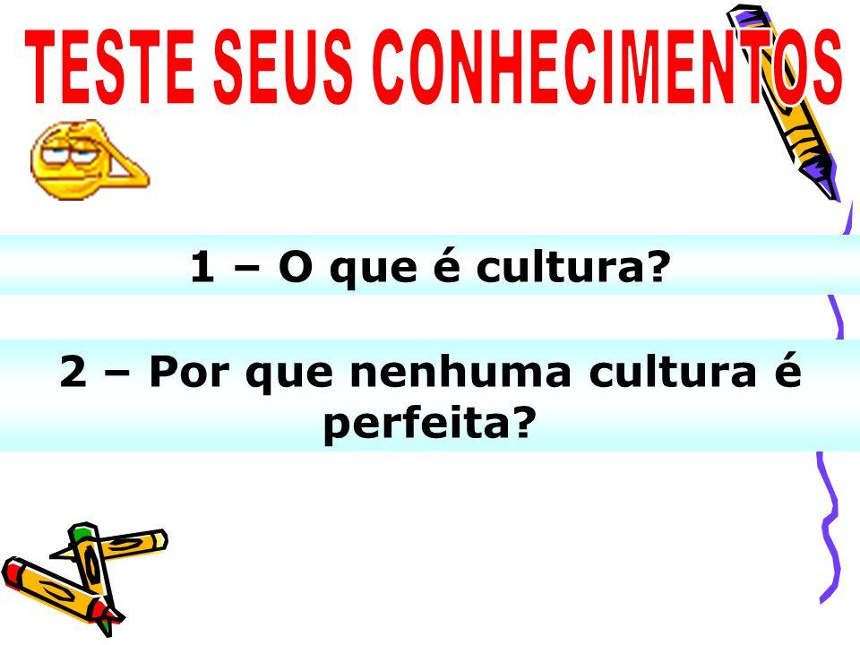 TESTE SEUS CONHECIMENTOS 2 – Por que nenhuma cultura é perfeita