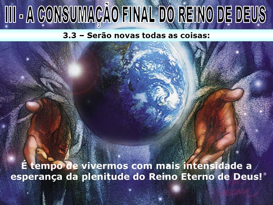 III - A CONSUMAÇÃO FINAL DO REINO DE DEUS