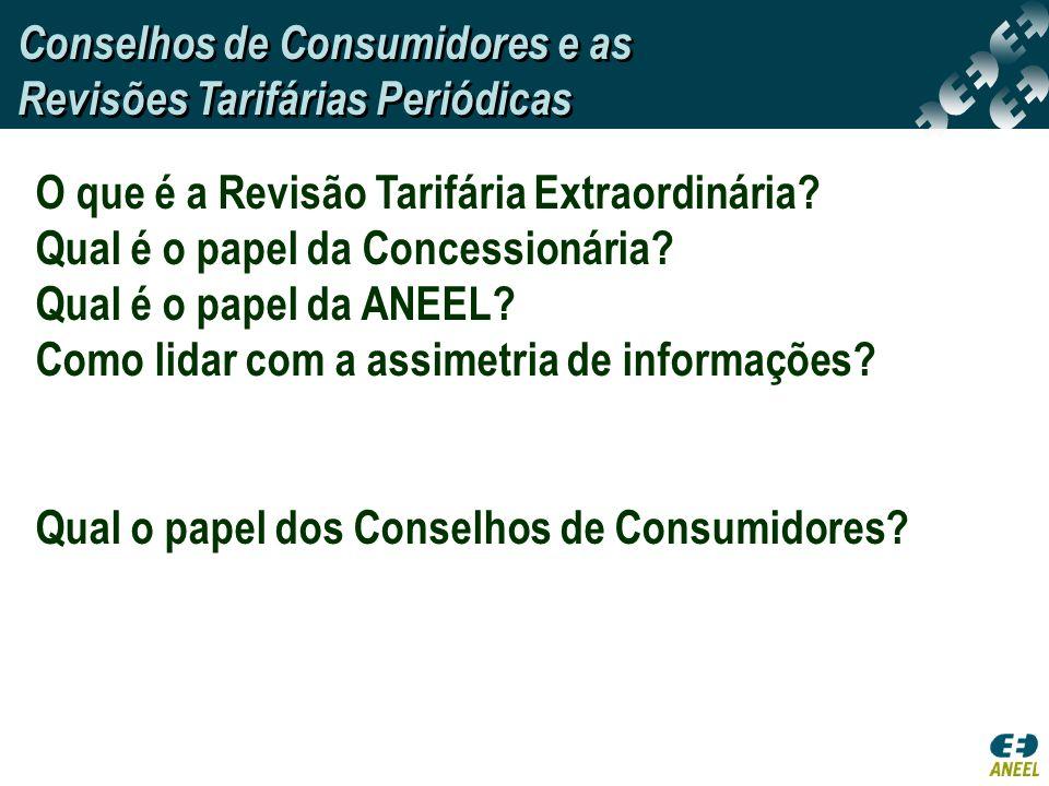 Conselhos de Consumidores e as Revisões Tarifárias Periódicas