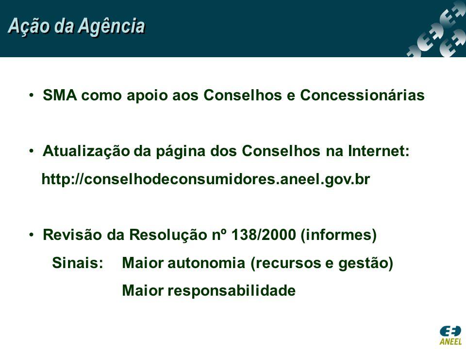 Ação da Agência SMA como apoio aos Conselhos e Concessionárias
