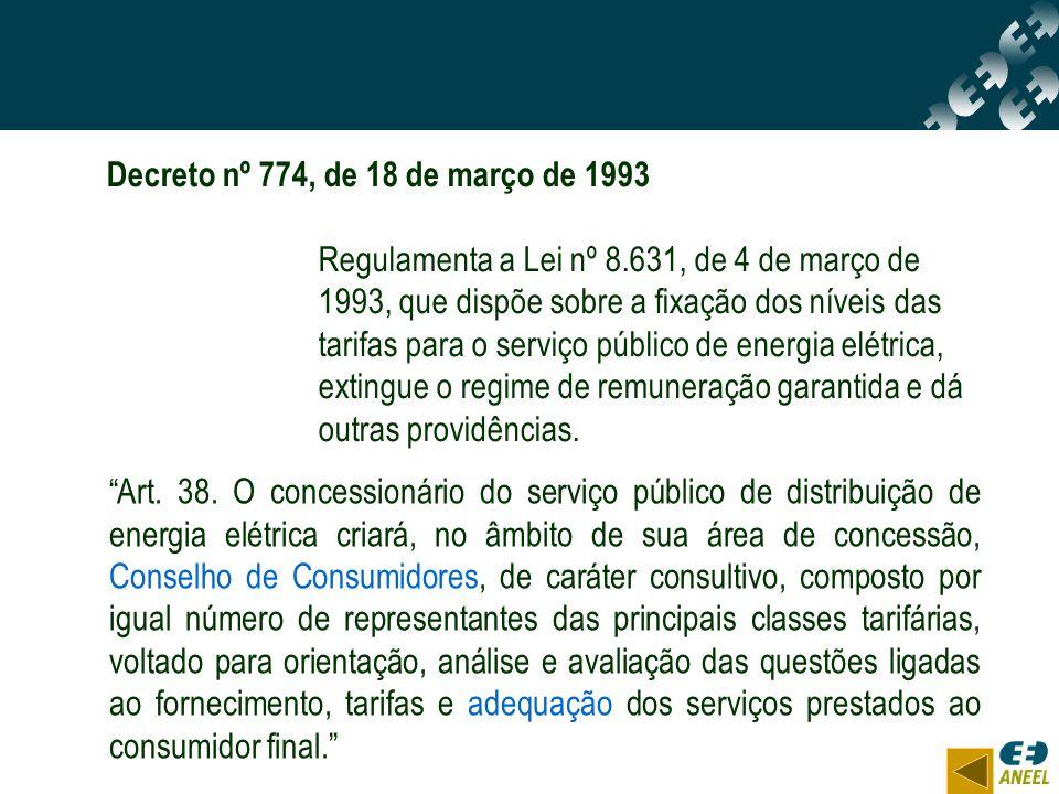 Decreto nº 774, de 18 de março de 1993