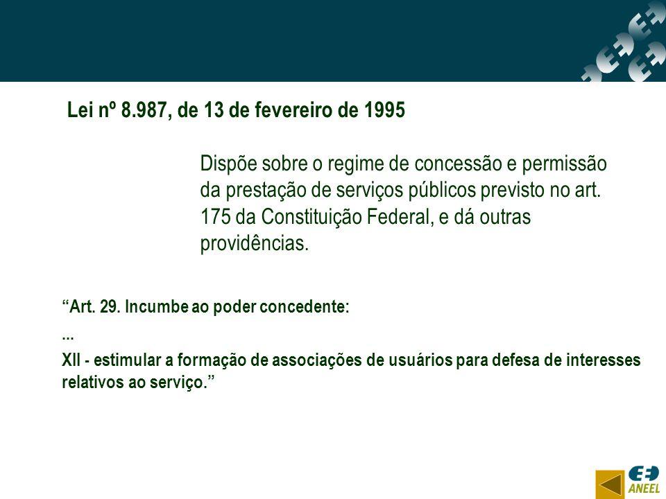 Lei nº 8.987, de 13 de fevereiro de 1995