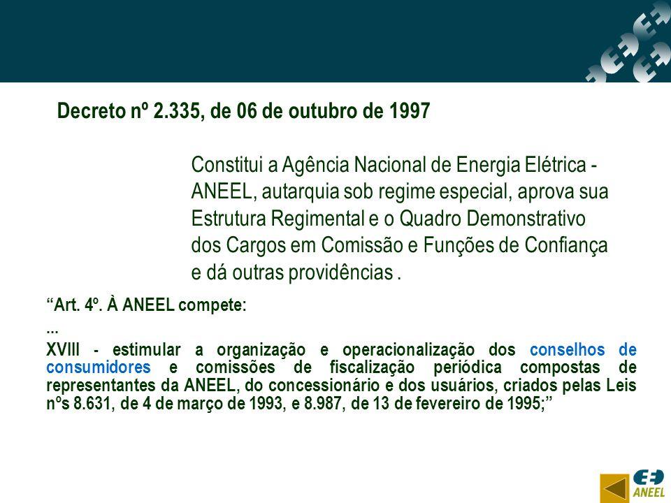 Decreto nº 2.335, de 06 de outubro de 1997
