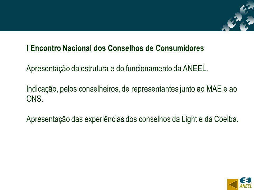 I Encontro Nacional dos Conselhos de Consumidores
