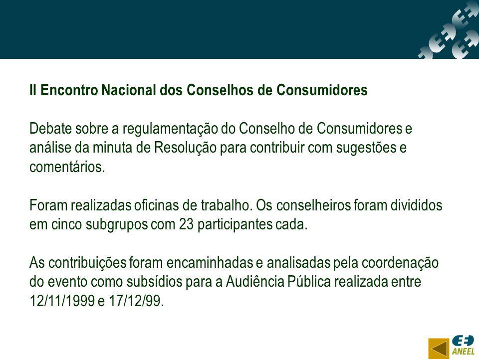 II Encontro Nacional dos Conselhos de Consumidores