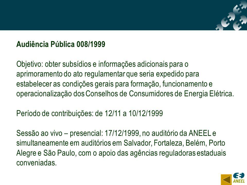 Audiência Pública 008/1999