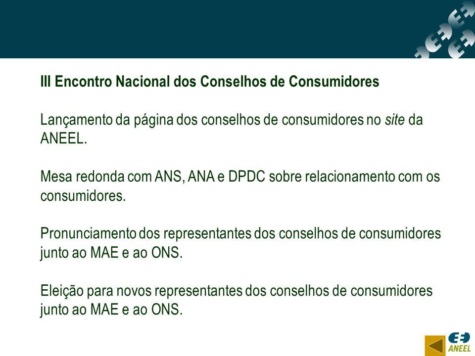 III Encontro Nacional dos Conselhos de Consumidores