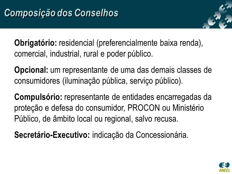 Composição dos Conselhos