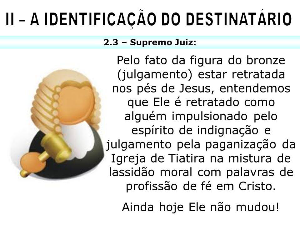 II – A IDENTIFICAÇÃO DO DESTINATÁRIO