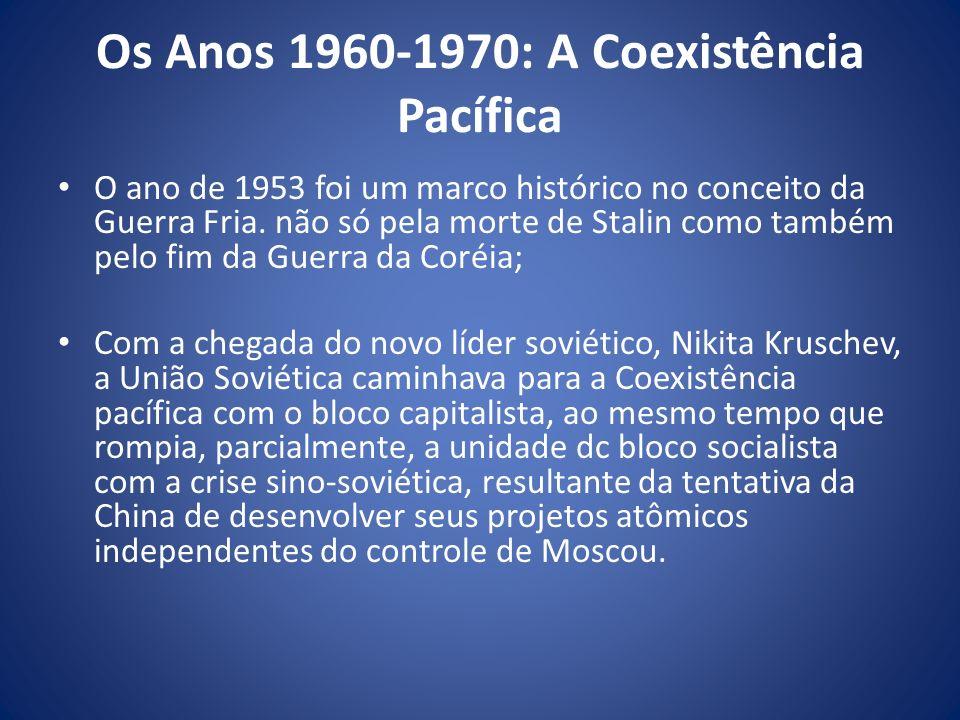 Os Anos 1960-1970: A Coexistência Pacífica
