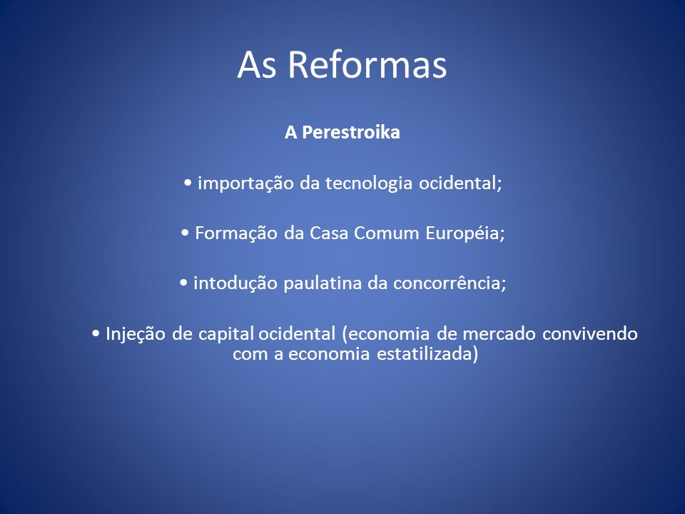 As Reformas