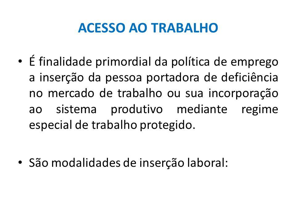 ACESSO AO TRABALHO