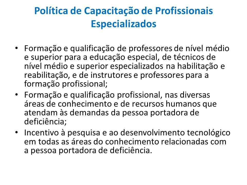 Política de Capacitação de Profissionais Especializados
