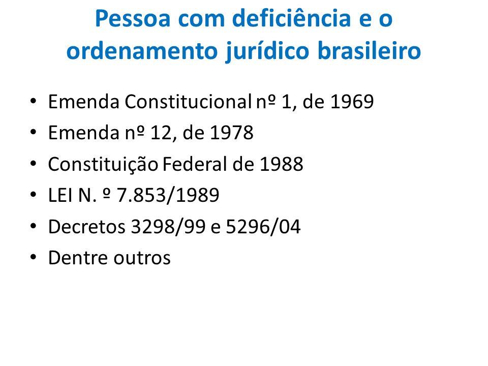 Pessoa com deficiência e o ordenamento jurídico brasileiro